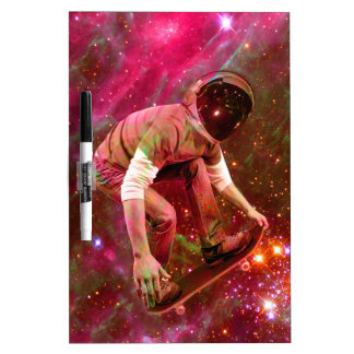Astronaugt Skateborder Dry Erase Whiteboards