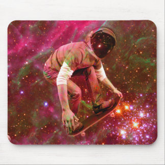 Astronaugt Skateborder Mouse Pad