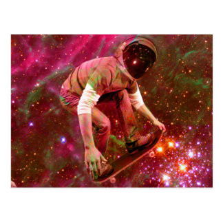 Astronaugt Skateborder Postcard