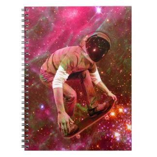 Astronaugt Skateborder Spiral Note Book