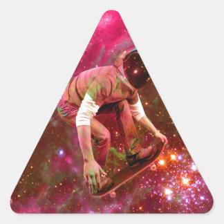 Astronaugt Skateborder Triangle Sticker