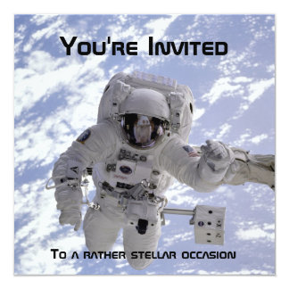 Astronaut 60th Birthday invite