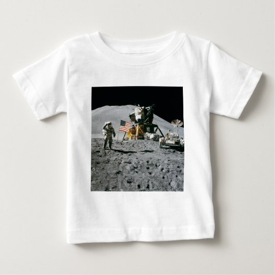 Astronaut and American Flag Apollo Moon Mission Baby