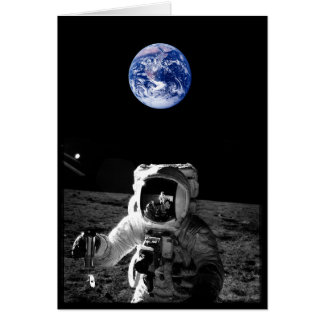 Astronaut and Earth Greeting Card
