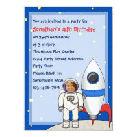 Astronaut and Rocketship Kids Photo Birthday Party