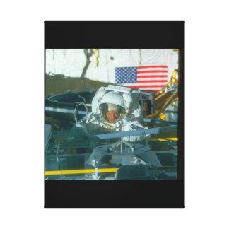 Astronaut. (astronaut;flag_Space Canvas Print