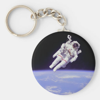 Astronaut Basic Round Button Key Ring