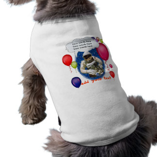 Astronaut Birthday Theme Party Sleeveless Dog Shirt