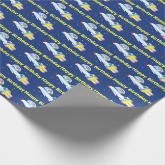 Astronaut Birthday Wrapping Paper