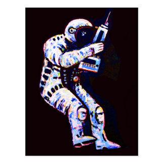 Astronaut, Black Background Postcard