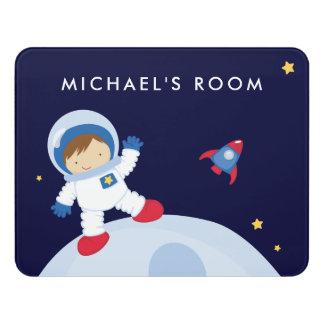 Astronaut Boy Door Sign