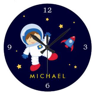 Astronaut Boy Space Themed Wall Clocks