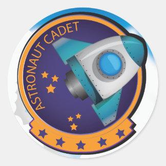Astronaut Cadet Badge Round Sticker