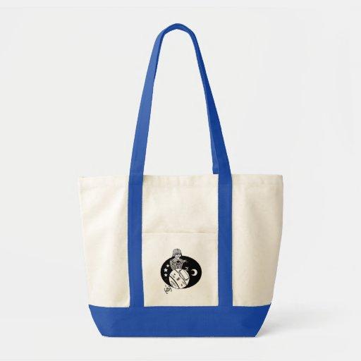 Astronaut Caricature Canvas Bag
