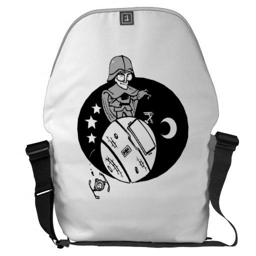 Astronaut Caricature Messenger Bags