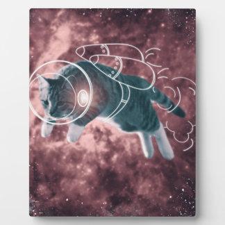 Astronaut Cat Kitten Funny Cosmos Plaque