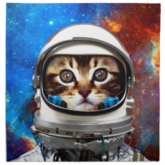 Astronaut Cat Napkin