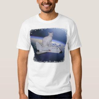 Astronaut Cat (Spirit) on Space Shuttle T-Shirt