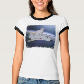 Astronaut Cat (Spirit) on Space Shuttle T-Shirt