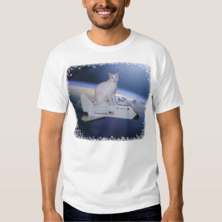 Astronaut Cat (Spirit) on Space Shuttle Tshirt