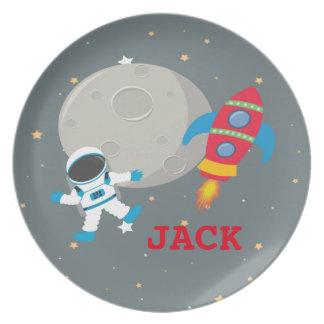 Astronaut Children's Melamine Plate