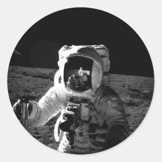 Astronaut Classic Round Sticker