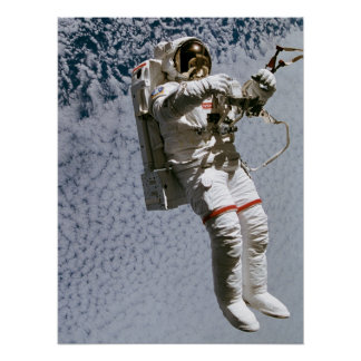 Astronaut Conducting a Spacewalk (STS-64) Posters
