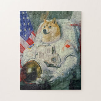 Astronaut Doge paint version Jigsaw Puzzle