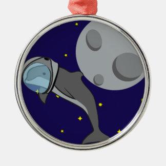 Astronaut Dolphin Christmas Ornament