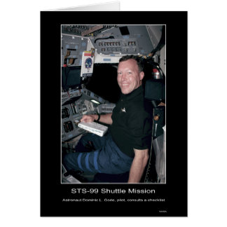 Astronaut Dominic L. Gorie Greeting Card