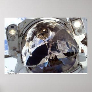 Astronaut Face Poster