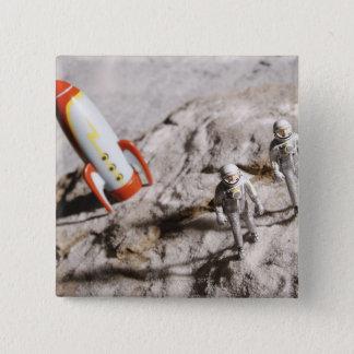 Astronaut Figurines 15 Cm Square Badge