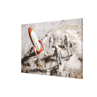 Astronaut Figurines Stretched Canvas Prints