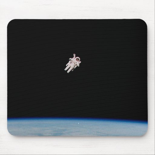 Astronaut Floating in Open Space - NASA Mouse Pad