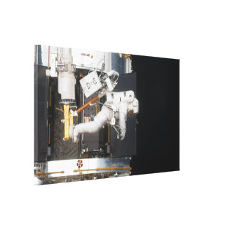 Astronaut Floating Stretched Canvas Print