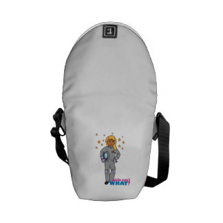 Astronaut-Girl 3 Messenger Bags