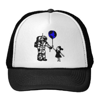 Astronaut Girl and the world Cap