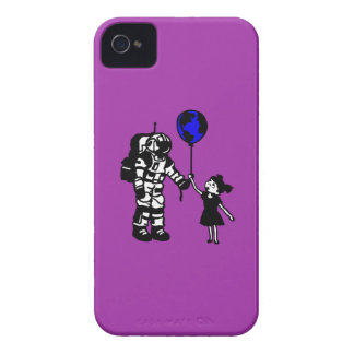 Astronaut Girl and the world iPhone 4 Cover