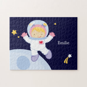 Astronaut Girl Kid's Personalised Jigsaw Puzzle