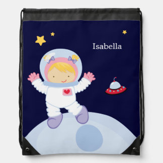 Astronaut Girl Kid's Personalized Backpack
