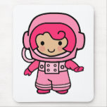 Astronaut Girl Mouse Pad