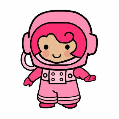 cartoon astronaut girl