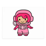 Astronaut Girl Postcard