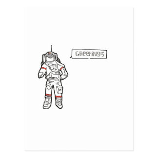 "Astronaut ""Greetings"" Greetings Card"