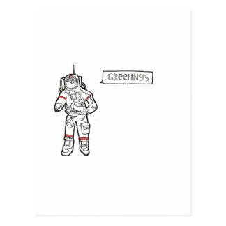"Astronaut ""Greetings"" Greetings Card Postcard"