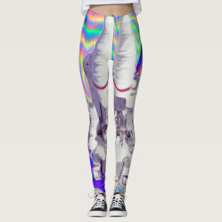 Astronaut Holographic Iridescent Space Leggings