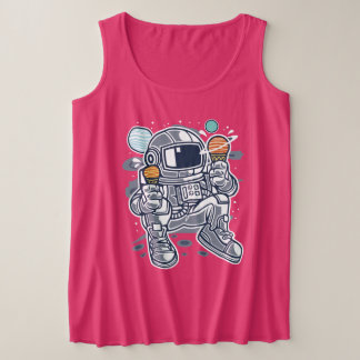 Astronaut Ice Cream Women's Plus-Size Tank Top