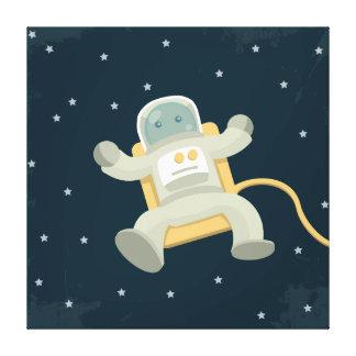 Astronaut Illustration Canvas Prints