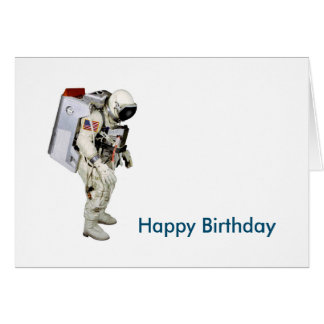 Astronaut image for Birthday-greeting-card Greeting Card