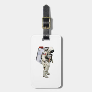 Astronaut image for Luggage-Tag-leather-strap Travel Bag Tags